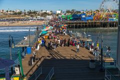 Connexion Santa Monica de Route 66 Images libres de droits