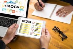 Connexion sociale N de media de page Web en ligne d'Internet de site Web de BLOG Photographie stock