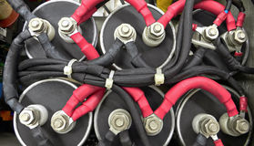 Connexions électriques à haute tension Photos stock