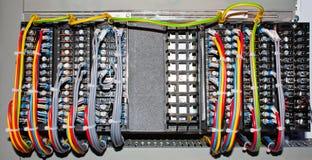 Connexions électriques de panneau Images stock