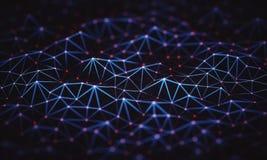 Connexions abstraites de technologie de fond Photos stock