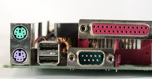 Connexions d'ordinateur photographie stock