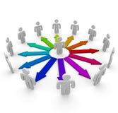 Connexions dans un réseau des gens