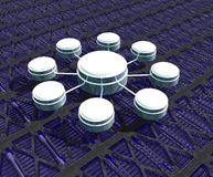 Connexions de données Photo libre de droits