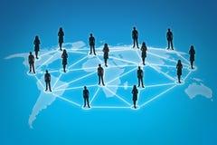 Connexions de gens Image stock