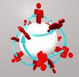 Connexions de gens - réseau social illustration stock