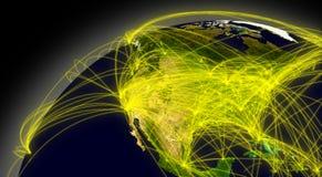 Connexions de l'Amérique du Nord illustration libre de droits