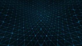 Connexions de modèle de grille de déformation bleues illustration de vecteur