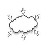 Connexions de nuage Images libres de droits