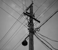 Connexions de puissance chaotiques Image libre de droits