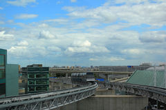 Connexions de terminaux d'aéroport Photo libre de droits