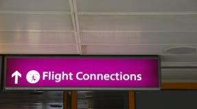 Connexions de vol Images stock