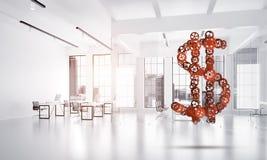 Connexions et concepts de mise en réseau en tant que moyens du revenu d'argent sur le fond blanc de bureau Photo stock