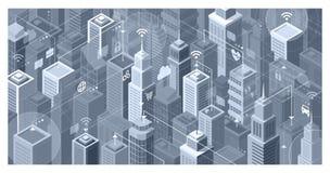 Connexions futées de ville illustration de vecteur