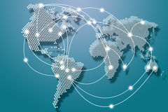 Connexions mondiales Image stock