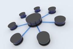 Connexions réseau Photos libres de droits