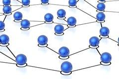 connexions réseau 3d Images stock