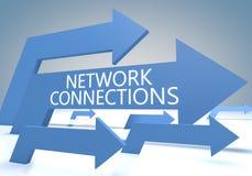Connexions réseau Photo libre de droits