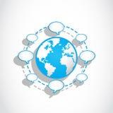 Connexions sociales de bulles de la parole de medias Photo libre de droits