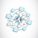 Connexions sociales de medias du monde Image stock