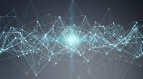 Connexions système et rendu des échanges de données 3D Image stock