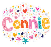 Connie girls name design Royalty Free Stock Photography