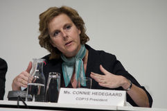 Connie Hedegaard royalty-vrije stock foto's