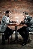 Connoisseur conversation Stock Photography