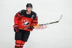 Connor McDavid, joueur de hockey canadien image stock