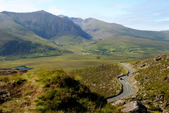 Connor pass ireland. Road on connor pass ireland Royalty Free Stock Images