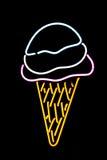 Cono de helado de neón Imagen de archivo
