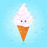 Cono de helado Kawaii Fotos de archivo libres de regalías