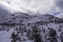 Cono de la cumbre de la montaña Imagenes de archivo