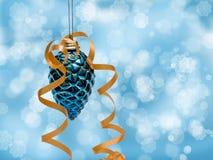 Cono decorativo blu Fotografia Stock