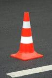 Cono del color en el camino Imagen de archivo