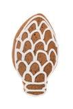 Cono del pan di zenzero di Natale isolato su un fondo bianco Fotografie Stock