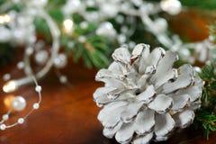 Cono del pino blanco Fotografía de archivo libre de regalías