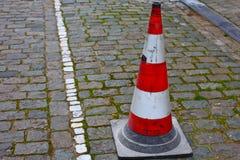 Cono del tráfico en Europa Fotos de archivo