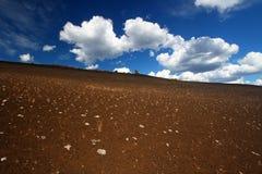 Cono dell'inferno - crateri della luna fotografia stock