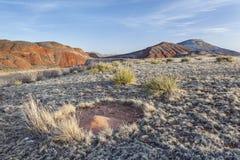 Cono della sabbia del nido della formica Fotografie Stock