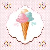 Cono di gelato illustrazione vettoriale
