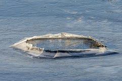 Cono di ghiaccio sul fiume Fotografie Stock Libere da Diritti