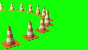 Cono di traffico Segnale stradale 3d archivi video