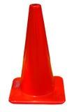 Cono rojo - aislado Imagen de archivo