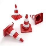 Cono rojo del tráfico Fotografía de archivo libre de regalías