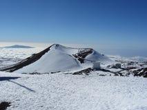Cono volcánico, Mauna Kea, isla grande, Hawaii Imagen de archivo