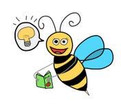 Conocimiento de la búsqueda de la abeja stock de ilustración