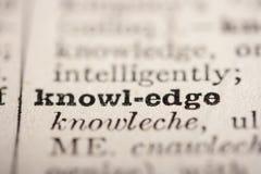 Conocimiento de la palabra Imagen de archivo libre de regalías