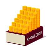 Conocimiento y dinero Imagen de archivo libre de regalías