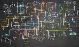 Économie d'énergie de labyrinthe Images libres de droits